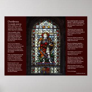Desiderátums - vitral de San Jorge Poster