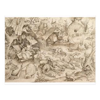 Desidia (pereza) por Pieter Bruegel la anciano Postales
