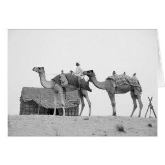 Desierto de B&W Dubai Tarjeta De Felicitación