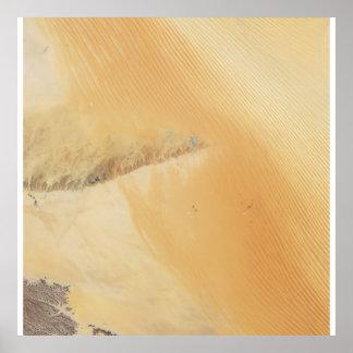 Desierto de Khali del al de la frotación del espac Poster