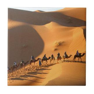 desierto-Marruecos-Sáhara Azulejo Cuadrado Pequeño