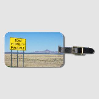 Desierto posible de la montaña de la señal de etiqueta para maletas