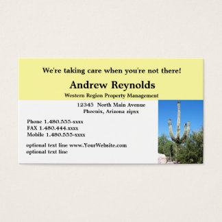 Desierto Southwes del administrador de la Tarjeta De Visita