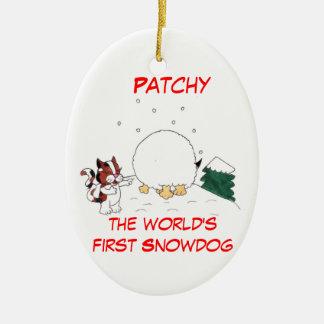 Desigual el ornamento del navidad de Snowdog