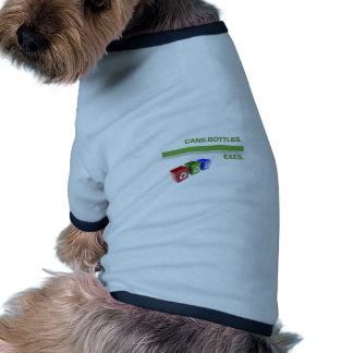 Desintegración que recicla lema ropa perro