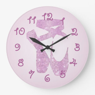 deslizadores rosados reloj redondo grande