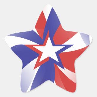 Deslúmbreme los pegatinas patrióticos - regalo pegatina en forma de estrella