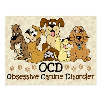 Desorden canino obsesivo de OCD Postal