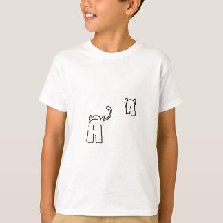 Despedida con pañuelo de pareja de elefantes camiseta