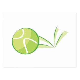 Despedida de la pelota de tenis postal