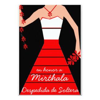 """Despedida de Soltera Invitación 3.5"""" X 5"""""""