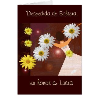 Despedida de Soltera Tarjeta De Felicitación