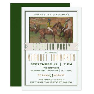 Despedida de soltero de la carrera de caballos de invitación 12,7 x 17,8 cm