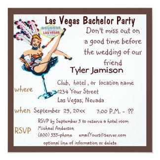 Despedida de soltero de Las Vegas con arte del Invitación 13,3 Cm X 13,3cm