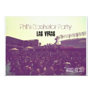 Despedida de soltero de Las Vegas de las Invitación 12,7 X 17,8 Cm