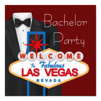 Despedida de soltero de Las Vegas Invitación 13,3 Cm X 13,3cm