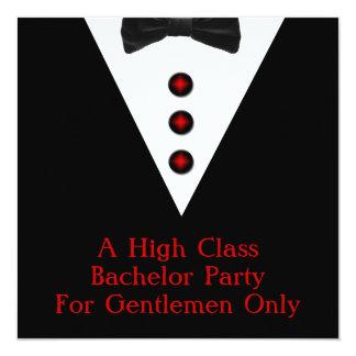 Despedida de soltero de los caballeros solamente invitación 13,3 cm x 13,3cm
