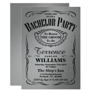 Despedida de soltero de moda de la tipografía de invitación 12,7 x 17,8 cm