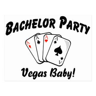 Despedida de soltero de Vegas Tarjetas Postales