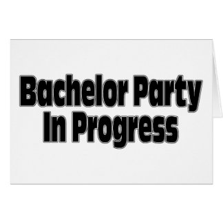 Despedida de soltero en curso (negro) felicitacion