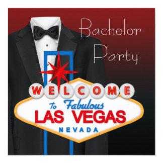Despedida de soltero negra de Las Vegas del Invitación 13,3 Cm X 13,3cm