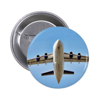 Despegue del aeroplano alto chapa redonda 5 cm