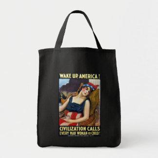 ¡Despierte América! Poster de la Primera Guerra Mu Bolsa