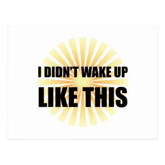 Despierte como esto postal