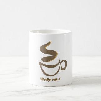despierte con un café taza de café