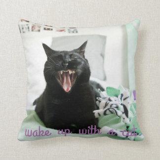 Despierte con una almohada del gato