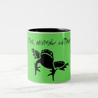 """""""Despierte el animal dentro"""" de la taza de la rana"""