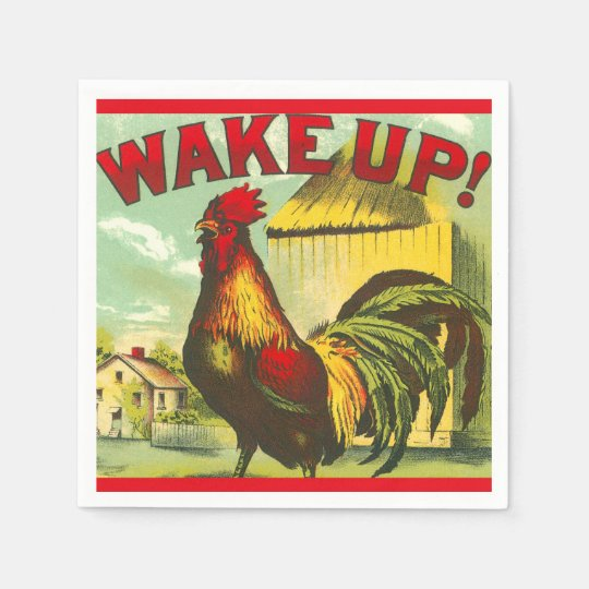 Despierte la decoración del país de la granja del servilletas desechables