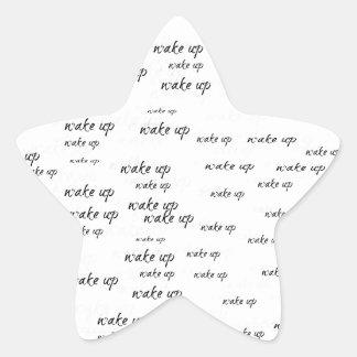 Despierte Pegatina En Forma De Estrella