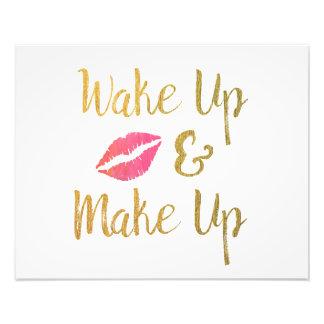 Despierte y componga la cita imprimible del arte fotográfico