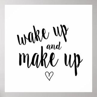 Despierte y componga póster