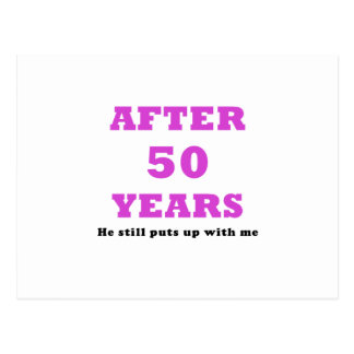 Después de 50 años él todavía me toleró postal