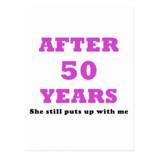 Después de 50 años ella todavía me toleró postal
