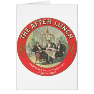 Después de almuerzo tarjeta de felicitación