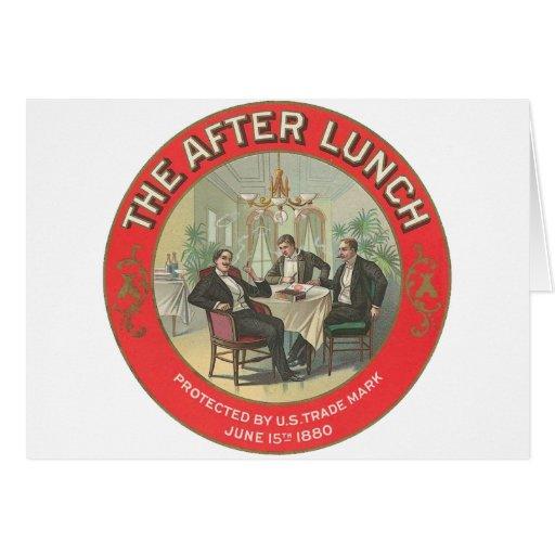 Después de almuerzo tarjetón