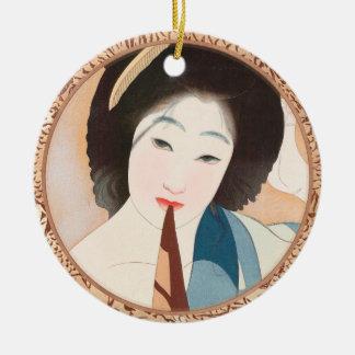Después de la señora japonesa del vintage de Shima Adorno Para Reyes
