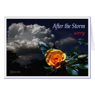 Después de la tormenta tarjetón