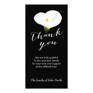 Después de monumento fúnebre de la flor del lirio tarjeta con foto personalizada