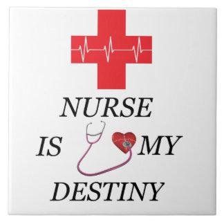Destino de la enfermera azulejo cuadrado grande