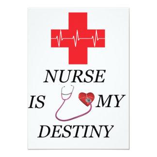 Destino de la enfermera invitación 12,7 x 17,8 cm
