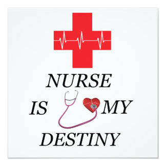 Destino de la enfermera invitación 13,3 cm x 13,3cm