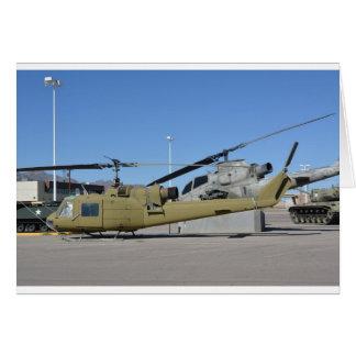 Destino de los aviones de los helicópteros de Huey Tarjeta De Felicitación