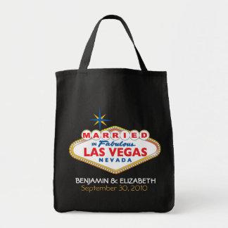 Destino de Vegas que casa el tote conmemorativo Bolsa Tela Para La Compra
