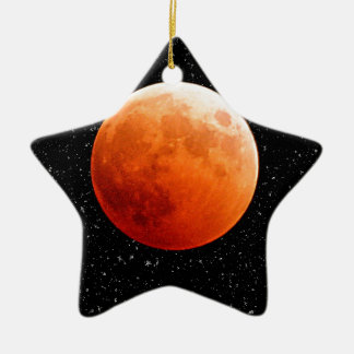 Destino del amor de la paz del cielo de las lunas adorno de cerámica en forma de estrella