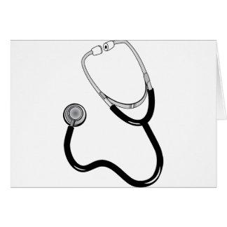 Destino del estetoscopio de la medicina de tarjeta de felicitación