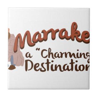 Destino encantador de Marrakesh Azulejo Cuadrado Pequeño